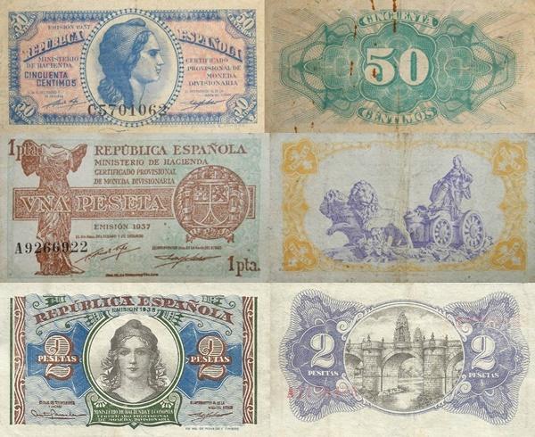 Ministry of Finance  (Ministerio de Hacienda) - 1937 -1938 Issue