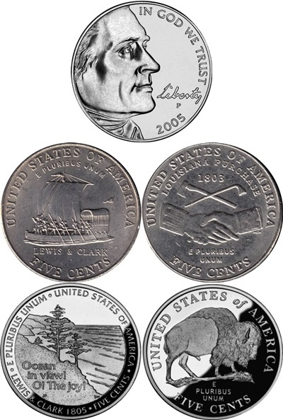 Nickel (Five Cents), Jefferson - Commemorative 2004-2005