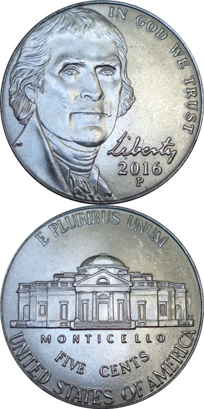Nickel (Five Cents), Jefferson - 2006-2018
