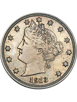 Nickel, Liberty Head (V Nickel) (1883-1913)