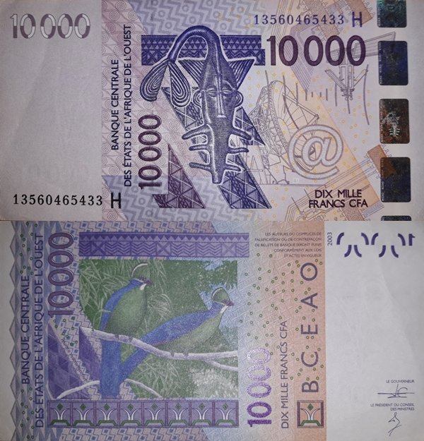 Niger (H) - 2003 Issue – 10,000 Francs