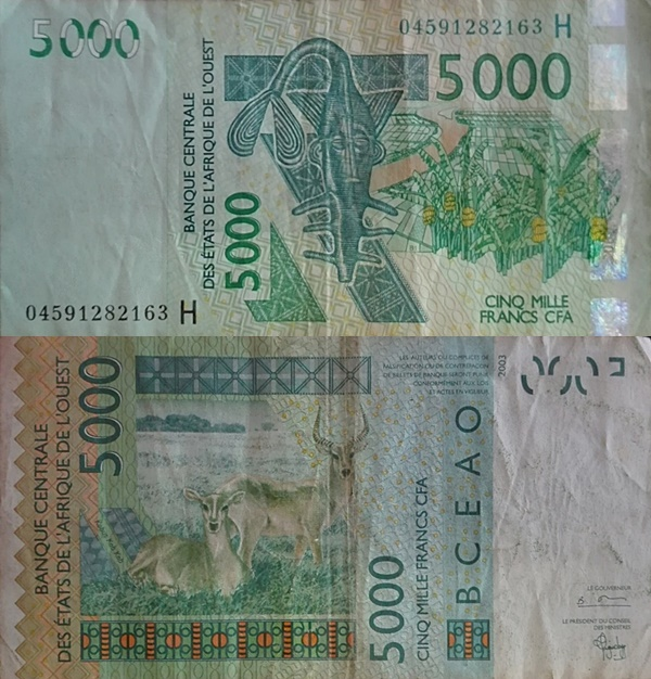 Niger (H) - Emisiunea 2003 – 5000 Franci