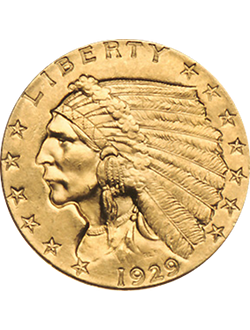 Quarter Eagle, Indian Head (1908-1929)