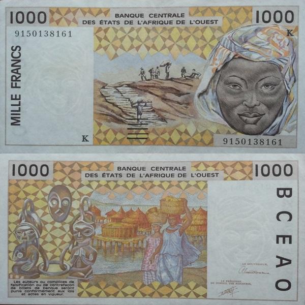 Senegal (K) - Emisiunea 1991-2003 - 1000 Franci