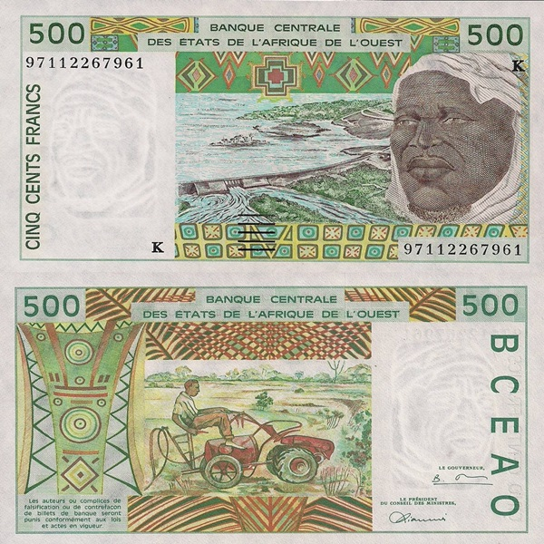 Senegal (K) - 1991-2003 Issue - 500 Francs