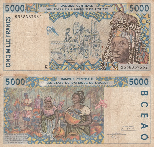 Senegal (K) - 1992-2003 Issue - 5000 Francs