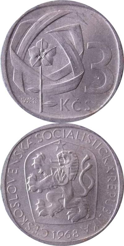 Republică Socialistă - 1965-1969 - 3 Coroane