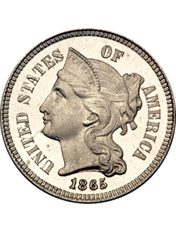 Three-cent piece, Nickel (1865-1889)