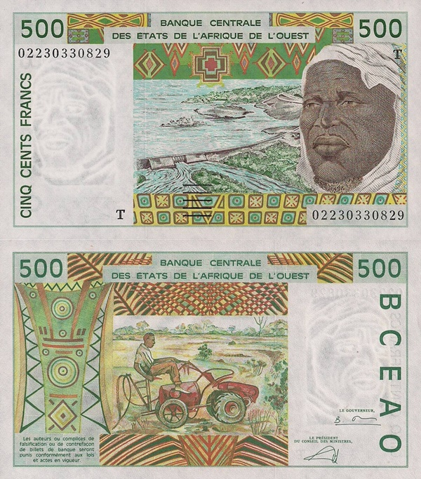 Togo (T) - 1991-2002 Issue – 500 Francs