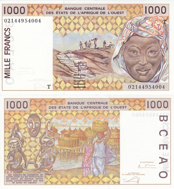 Togo (T) - 1991-2003 Issue – 1000 Francs