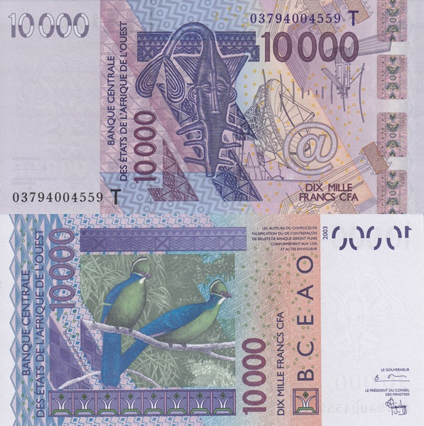 Togo (T) - 2003 Issue – 10,000 Francs