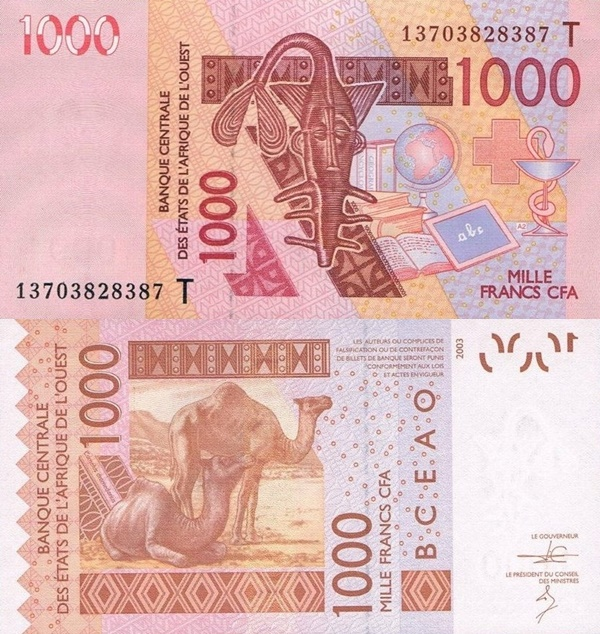 Togo (T) - 2003-2017 Issue – 1000 Francs