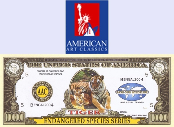USA - American Art Classics, Inc. (AAC) - Endangered Species Series