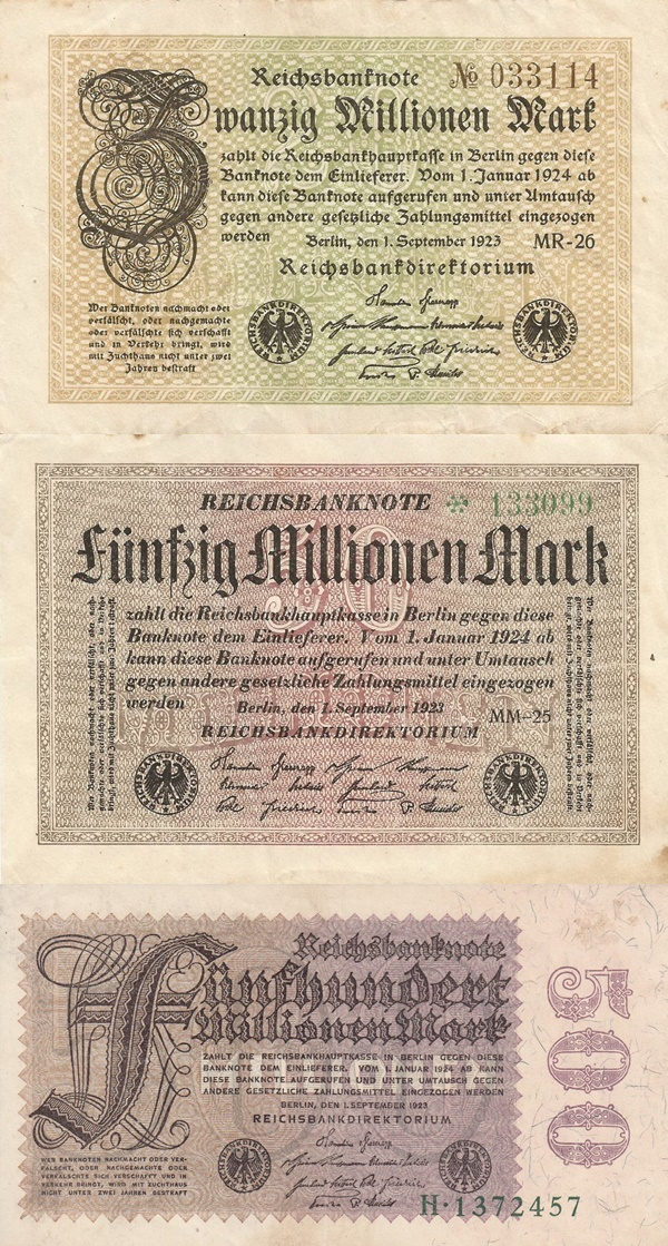Weimar Republic (Reichsbanknoten) - Treasury Notes - 1923 Sixth Issue