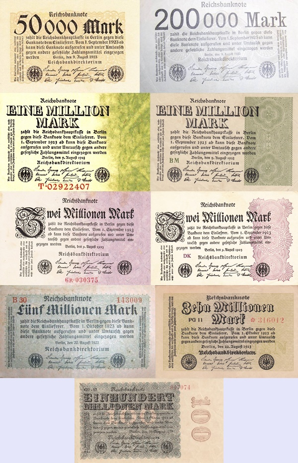 Weimar Republic (Reichsbanknoten) - Treasury Notes - 1923 Fifth Issue