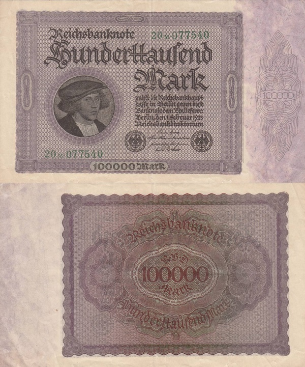1923 First Issue - Weimar Republic (Reichsbanknoten) - Treasury Notes