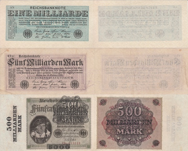 Weimar Republic (Reichsbanknoten) - Treasury Notes - 1923 Eight Issue