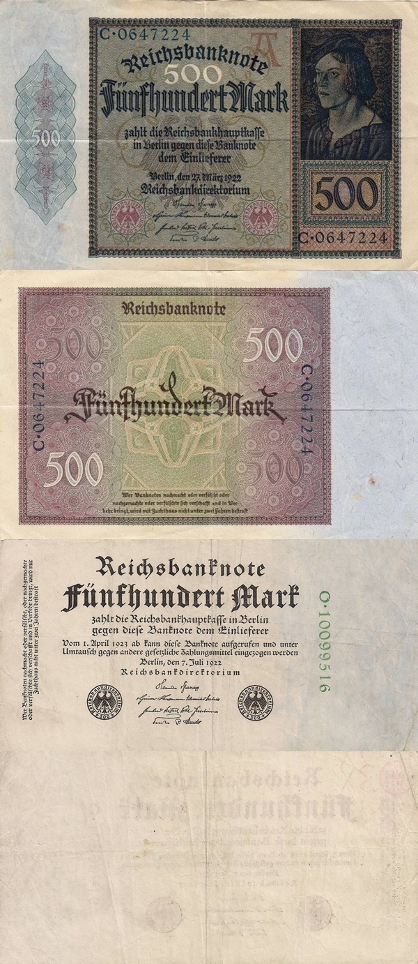 Weimar Republic (Reichsbanknoten) - Treasury Notes - 1922 Second Issue