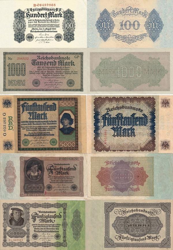 Republica de la Weimar  (Reichsbanknoten) - Bilete de Trezorerie - Emisiunea a III-a 1922