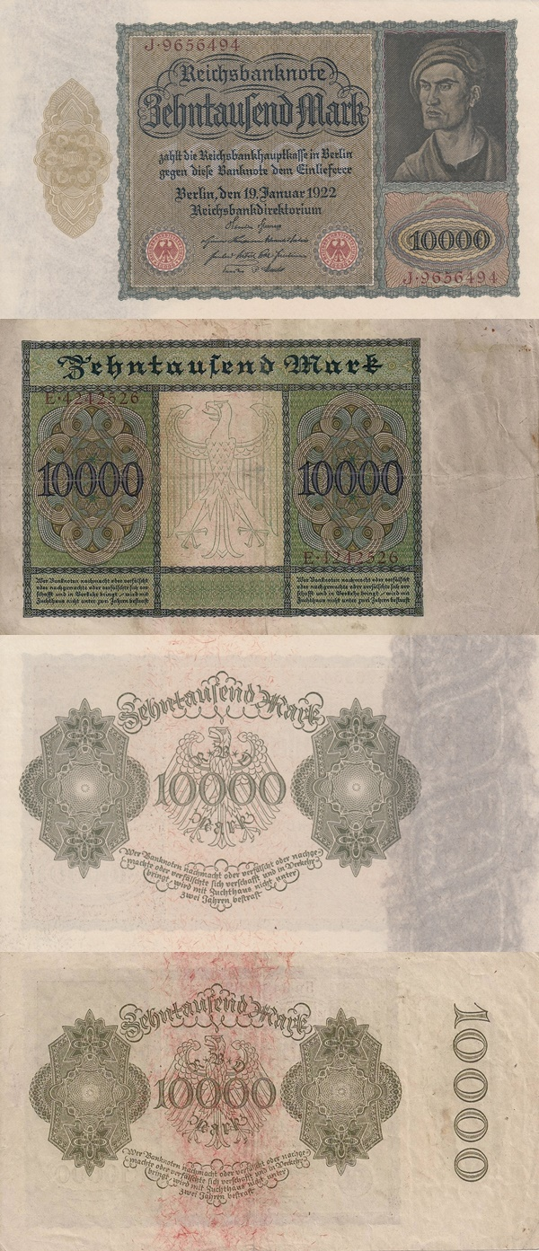 Weimar Republic (Reichsbanknoten) - Treasury Notes - 1922 First Issue