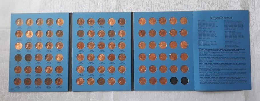 Official Whitman Coin Folder Lincoln Cents Collection Starting From 1975 Id 8106